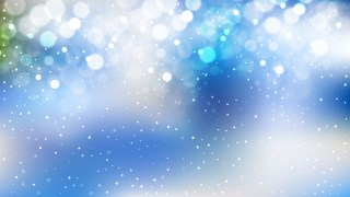 Abstract Blue and White Bokeh Lights Background