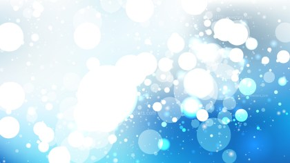 Blue and White Blurry Lights Background Vector Image
