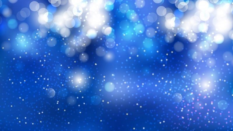 Blue and White Bokeh Background Illustrator