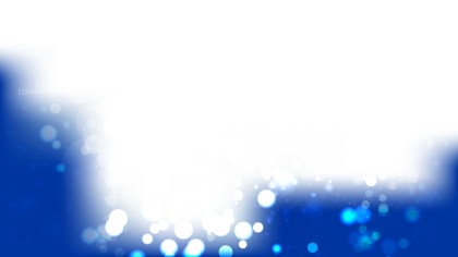 Blue and White Bokeh Lights Background Vector