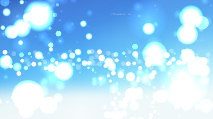 Abstract Blue and White Defocused Lights Background