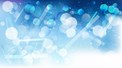 Abstract Blue and White Bokeh Defocused Lights Background Vector Illustration