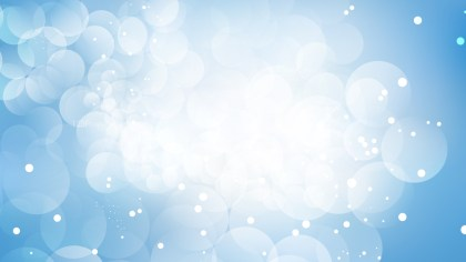 Abstract Blue and White Bokeh Lights Background Vector