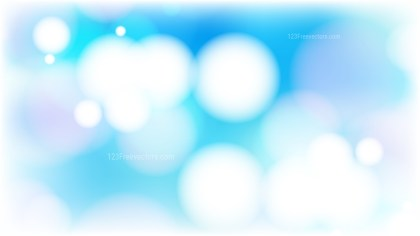 Blue and White Bokeh Lights Background