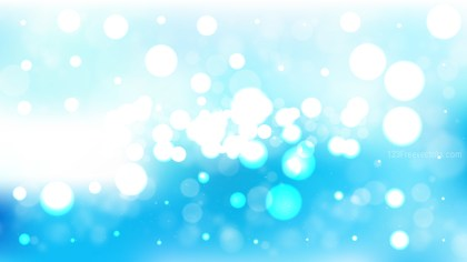 Blue and White Blurred Bokeh Background Image