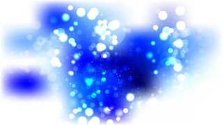 Blue and White Bokeh Defocused Lights Background