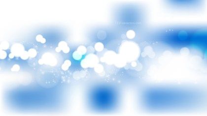 Abstract Blue and White Blurred Lights Background