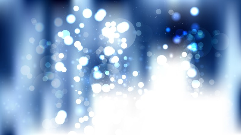 Abstract Blue and White Bokeh Defocused Lights Background Illustration