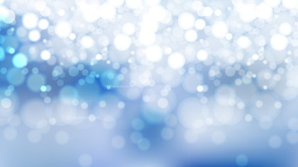 Abstract Blue and White Blurred Lights Background Vector