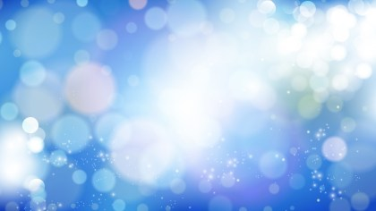 Abstract Blue and White Bokeh Lights Background Design