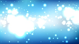 Blue and White Blurred Lights Background Vector