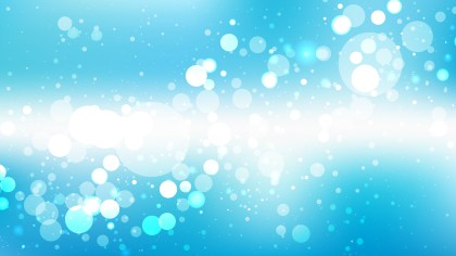 Blue and White Bokeh Background Vector Graphic