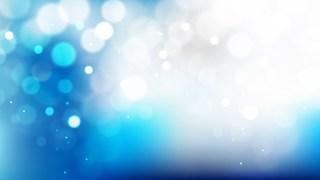 Blue and White Bokeh Lights Background Illustrator