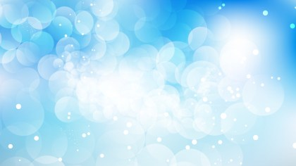 Blue and White Defocused Lights Background Vector