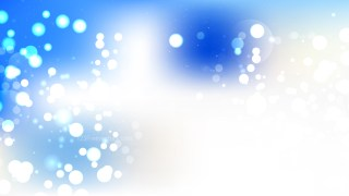 Abstract Blue and White Blur Lights Background