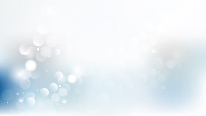 Abstract Blue and White Blurred Bokeh Background Illustration