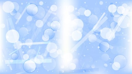 Abstract Blue and White Bokeh Defocused Lights Background Image