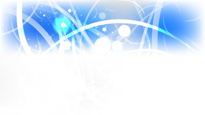 Blue and White Blurred Bokeh Background Vector Art