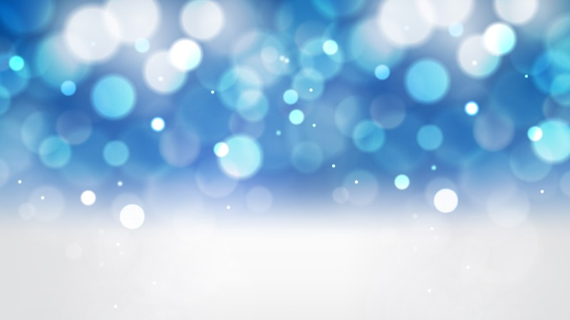 Blue and White Bokeh Defocused Lights Background Image