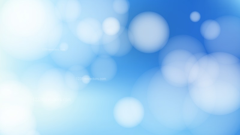 Blue and White Bokeh Lights Background Vector Graphic