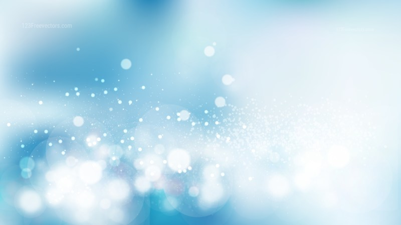 Blue and White Bokeh Background