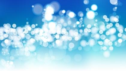 Blue and White Blur Lights Background Design