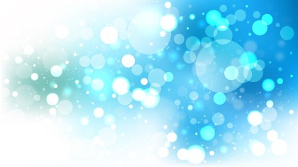 Abstract Blue and White Blurry Lights Background Vector Image