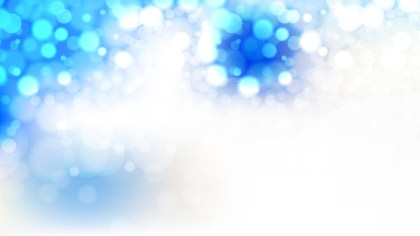 Blue and White Bokeh Defocused Lights Background Vector Illustration