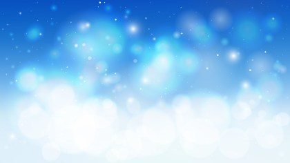 Blue and White Defocused Background Vector Art