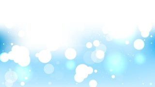 Blue and White Blurry Lights Background Vector Illustration