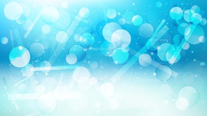 Abstract Blue and White Bokeh Background