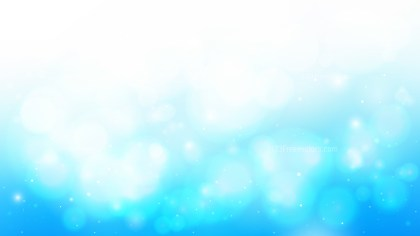 Abstract Blue and White Blur Lights Background Vector Graphic