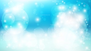Blue and White Bokeh Background Design