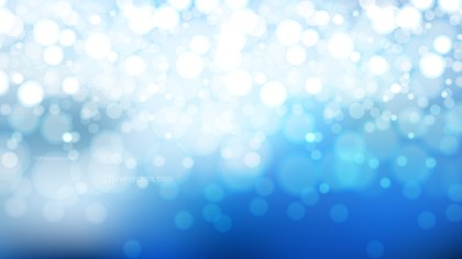 Abstract Blue and White Defocused Lights Background Graphic