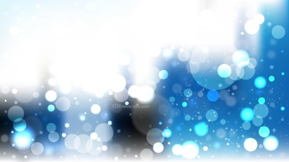 Abstract Blue Black and White Lights Background