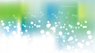 Abstract Blue Green and White Blurry Lights Background Image