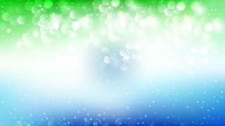 Abstract Blue Green and White Lights Background Vector Art
