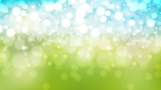 Blue Green and White Bokeh Lights Background