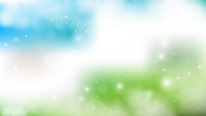 Abstract Blue Green and White Lights Background Illustration