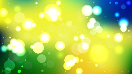Abstract Blue Green and Yellow Lights Background