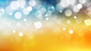 Abstract Blue Orange and White Bokeh Defocused Lights Background Vector Image
