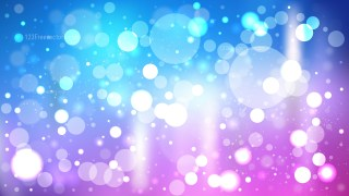 Abstract Blue Purple and White Blur Lights Background Graphic