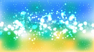 Abstract Blue Yellow and White Lights Background Vector Art