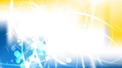 Abstract Blue Yellow and White Illuminated Background Image