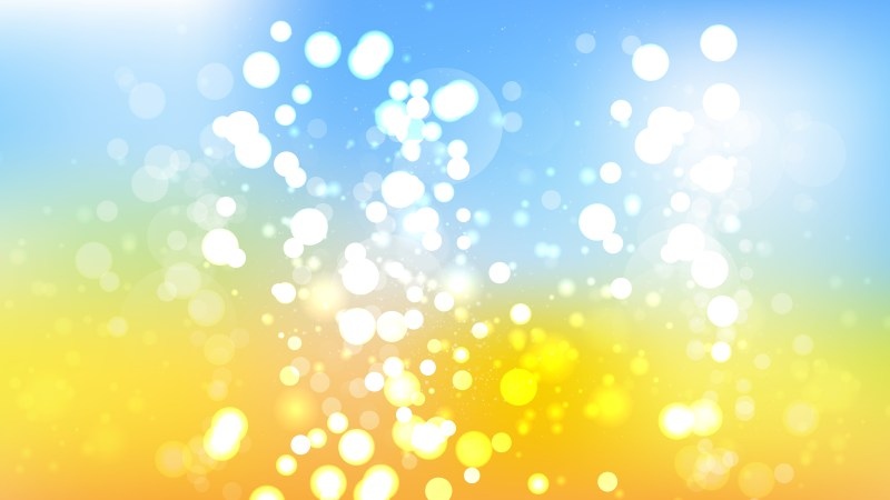 Abstract Blue Yellow and White Blur Lights Background
