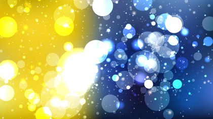 Abstract Blue Yellow and White Blurred Lights Background