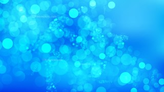 Abstract Bright Blue Bokeh Background