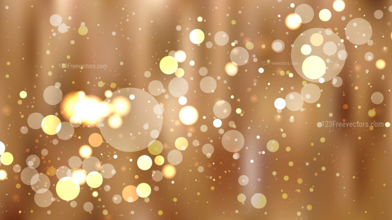 Abstract Brown Blurred Bokeh Background Image