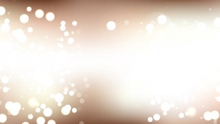 Abstract Brown and White Bokeh Lights Background Graphic