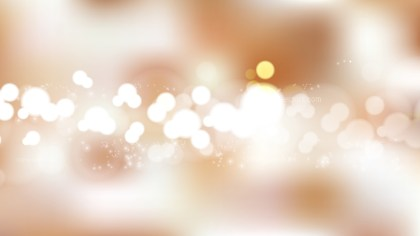Brown and White Bokeh Defocused Lights Background